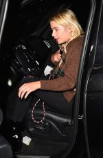 ASHLEY BENSON Out for Dinner at Craig