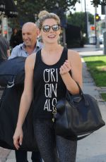 ASHLEY GREENE Out and About in West Hollywood 10/18/2017