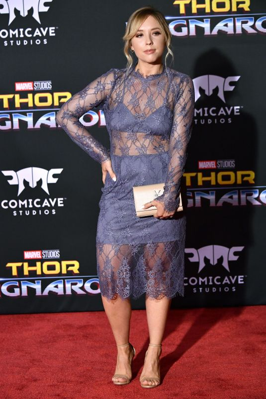 ASHLEY NICOLE at Thor: Ragnarok Premiere in Los Angeles 10/10/2017