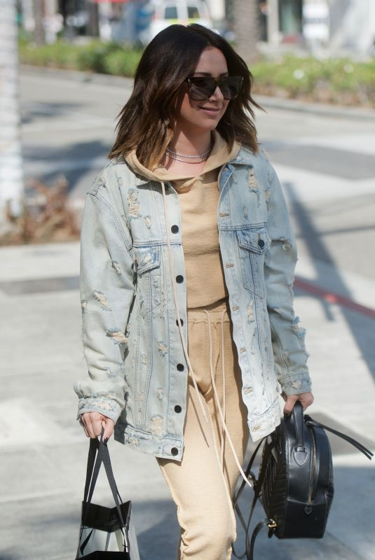 ASHLEY Out Shopping in Beverly Hills 10/12/2017