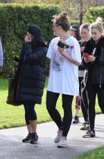 ASHLEY ROBERTS and VANESSA WHITE Out for Morning Workout in Primrose Hill 10/21/2017