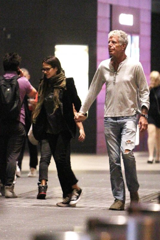 ASIA ARGENTO and Anthony Bourdain Out and About in New York 10/10/2017
