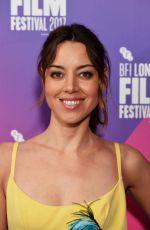 AUBREY PLAZA at Ingrid Goes West Screening at 61st BFI London Film Festival 10/07/2017