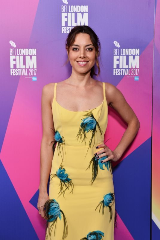 AUBREY PLAZA at Ingrid Goes West Screening at 61st BFI London Film Festival 10/07/2017