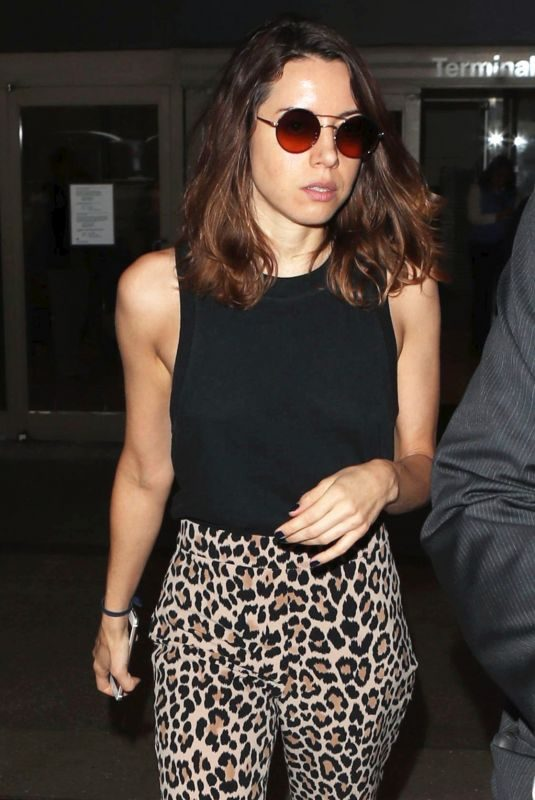 AUBREY PLAZA at LAX Airport in Los Angeles 10/11/2017