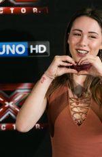 AURORA RAMAZZOTTI at X Factor Photocall in Milan 10/24/2017