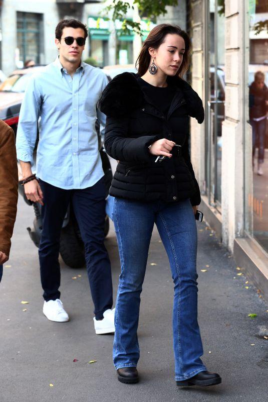 AURORA RAMAZZOTTI Out with Her Boyfriend in Milan 10/22/2017
