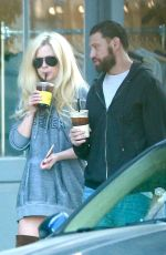 AVRIL LAVIGNE and Jonathan Reuven Out for Coffee in West Hollywood 10/14/2017