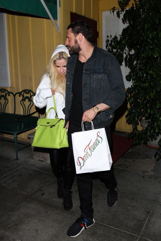 AVRIL LAVIGNE and Jonathan Reuven Out for Dinner in West Hollywood 10/16/2017