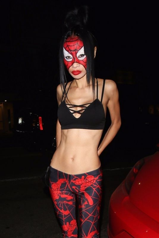 BAI LING at Matthew Morrison Halloween Party at Poppy Night Club in Hollywood 10/28/2017