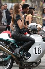 BARBARA PALVIN on the Set of a Photoshoot at Arc De Triomphe in Paris 10/01/2017
