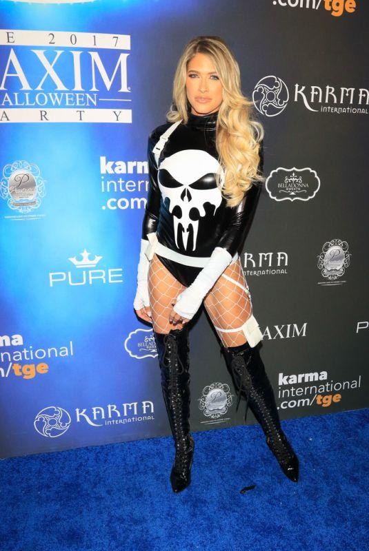 BARBIE BLANK (KELLY KELLY) at 2017 Maxim Halloween Party in Los Angeles 10/21/2017