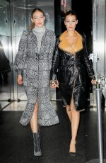 BELLA and GIGI HADID Leaves V Magazine Dinner in New York 10/23/2017