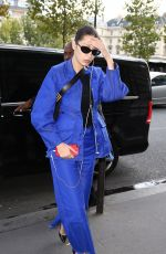 BELLA HADID Heading to a Photoshoot in Paris 10/03/2017