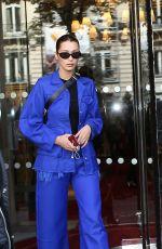 BELLA HADID Leaves Her Hotel in Paris 10/03/2017