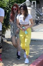BELLA THORNE and KYRA SANTORO Out Hiking in Los Angeles 10/01/2017