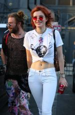 BELLA THORNE Leaves Body Electric Tattoo Shop in West Hollywood 10/10/2017