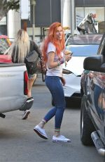 BELLA THORNE Out and About in Los Angeles 10/02/2017