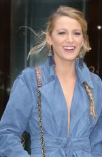 BLAKE LIVELY Arrives at a Office Building in New York 10/16/2017