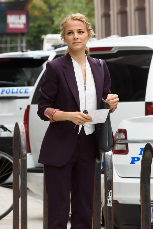 BOJANA NOVAKOVIC on the Set of Instinct in New York 10/13/2017