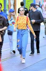 BRIE LARSON and Alex Greenwald Out in Disneyland 10/19/2017