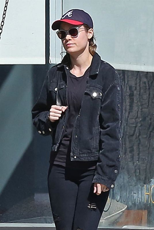 BRIE LARSON Out for Lunch at Cheebo in West Hollywood 10/11/2017