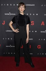 BRITTANY ALLEN at Jigsaw Premiere in Los Angeles 10/25/2017