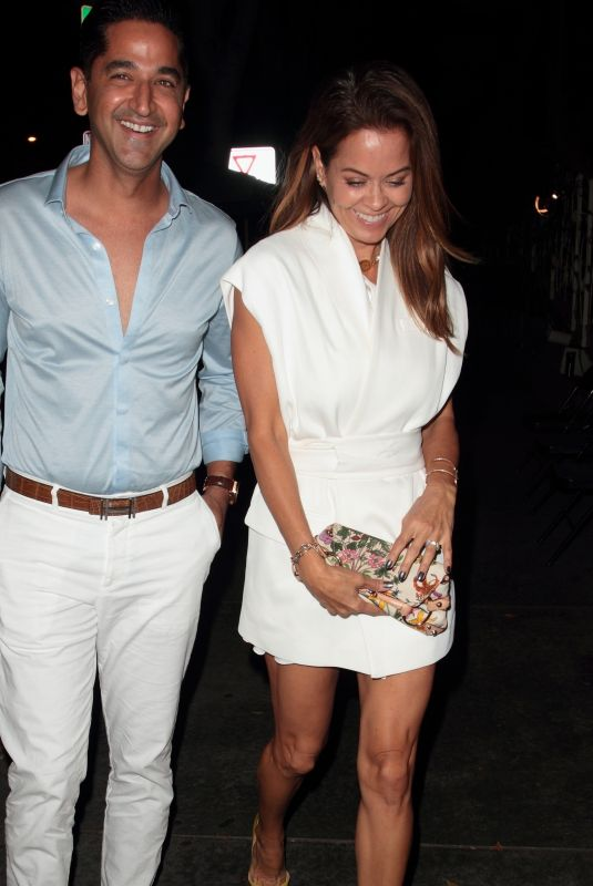 BROOKE BURKE and David Charvet at Madeo Restaurant in West Hollywood 10/07/2017