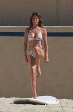 BROOKE BURKE in Bikini on the Set of Workout Video in Malibu 10/23/2017