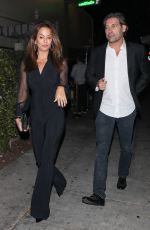 BROOKE BURKE Night Out in West Hollywood 10/13/2017