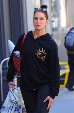 BROOKE SHIELDS Heading to a Gym in New York 10/03/2017