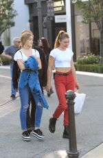 CAMBRIE and FAITH ANNE SCHRODER Out Shopping at The Grove in Hollywood 10/13/2017