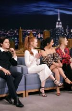 CAMILA MENDES, LILI REINHART and MADELAINE PETSCH at Tonight Show Starring Jimmy Fallon in New York 10/03/2017