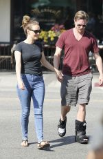 CAMILLA LUDDINGTON and Matthew Alan Out and About in Los Angeles 10/13/2017