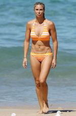 CANDICE WARNER in Bikini on the Beach in Coogee 10/13/2017