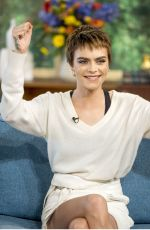 CARA DELEVINGNE at This Morning Show in London 10/09/2017