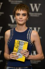 CARA DELEVINGNE Signing Her Book Mirror, Mirror at Waterstones Piccadilly in London 10/04/2017