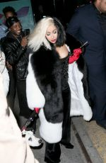 CARDI B Arrives at a Halloween Party in New York 10/30/2017