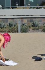CARLA and MELISSA HOWE in Bikinis at a Beach in Santa Monica 10/08/2017