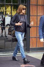 CARLA BRUNI Leaves Her Hotel in New York 10/11/2017