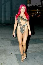 CARLA HOWE Heading to a Halloween Party in Hollywood 10/22/2017
