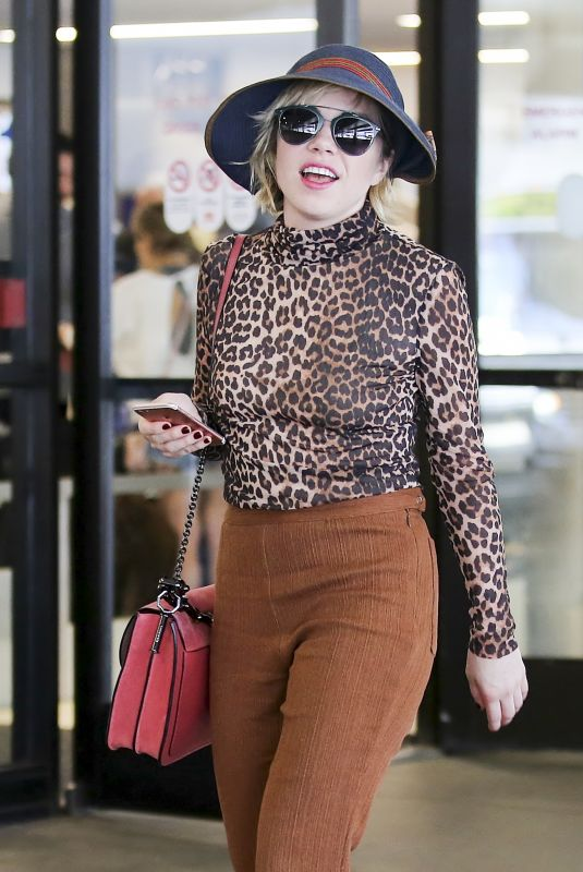 CARLY RAE JEPSEN at LAX Airport in Los Angeles 10/07/2017