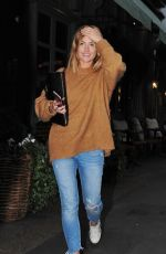 CAROLINE RECEVEUR at Ivy Chelsea Garden Restaurant in London 10/17/2017