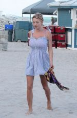 CAROLINE VREELAND in Swimsuit at a Beach in Miami 10/09/2017