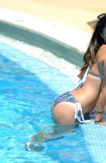 CASEY BATCHELOR in Bikini at a Pool in Cyprus 10/25/2017