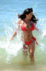 CASEY BATCHELOR in Red Bikini on the Beach in Cyprus 10/23/2017
