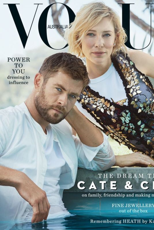 CATE BLANCHERR and Chris Hemsworth for Vogue Magazine, Australia November 2017