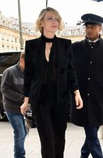 CATE BLANCHETT Arrives at Her Hotel in Paris 10/01/2017