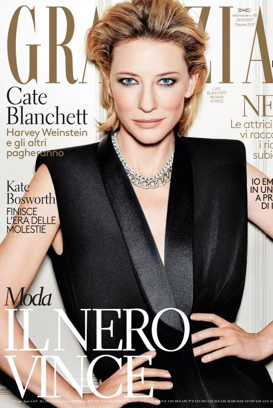 CATE BLANCHETT in Grazia Magazine, Italiy October 2017 Issue