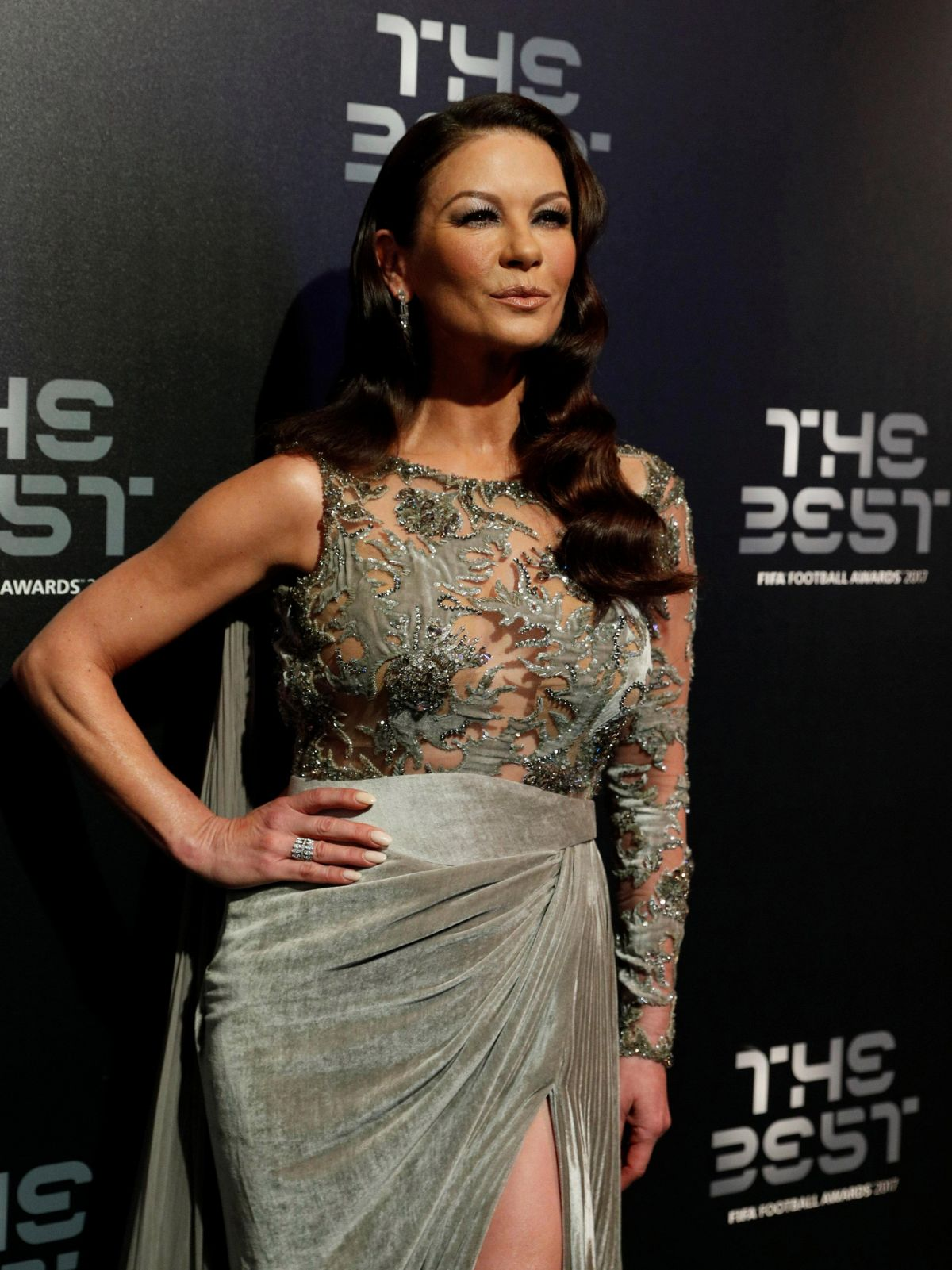 Catherine Zeta Jones At Best Fifa Football Awards In